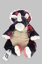 Рюкзак в форме динозавра Трицератопса (черно-красный) купить