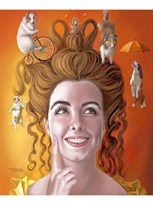 Картина по номерам Девушка с собачками купить в России