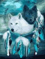 Картина по номерам Ловец снов. Два волка  купить в России