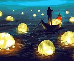 Картина по номерам Лунный свет  купить в России с доставкой