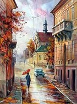 Картина по номерам Осенний город купить в России