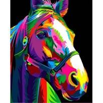Картина по номерам Радужная лошадь  купить в России