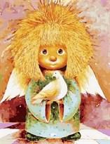 Картина по номерам Солнечный ангел с голубем купить в России