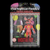 Подвижная фигурка Рокстар Фокси из 5 ночей с Фредди светится в темноте ( Funko Rocky Foxy) 13 см