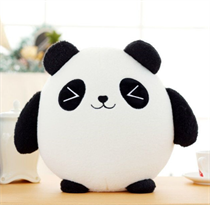 Плюшевая круглая панда подушка 30 см купить
