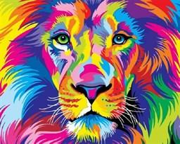 Картина по номерам радужный Лев  купить в России