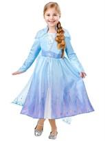 Платье Эльзы Холодное сердце (Rubies Elsa Travel Dress Delux) купить в Москве