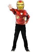 Детский костюм с маской Железный Человек (Marvel Iron Man muscle chest top set) купить оригинал