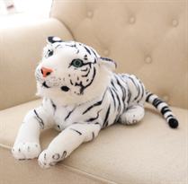 Плюшевый белый тигр (45 см) купить в Москве