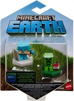 Набор из 2 фигурок Майнкрафт Алекс и Крипер (Minecraft Earth Boost Minis Defending Alex & Mining Creeper) купить в Москве