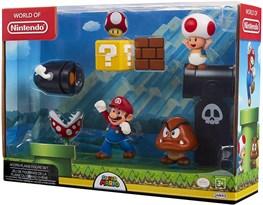 Набор фигурок из Супер Марио (Super Mario Nintendo Acorn Plains Diorama) купить оригинал