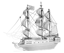 Металлический 3D конструктор корабль Черная жемчужина (Black Pearl Metal Earth) купить в Москве