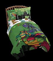 Постельное белье Черепашки ниндзя (TMNT Ninja Night Twin/Full Comforter and Sham Set) купить в России