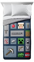 Постельное белье значки из игры Майнкрафт (Minecraft Icon Adventure Twin/Full Comforter Set) купить в Москве