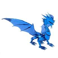 Металлический 3D конструктор синий Дракон (Blue Dragon Metal Earth) купить в Москве
