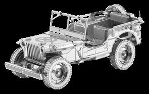 Металлический 3D конструктор Военный автомобиль (Willys Overland Metal Earth) купить в Москве