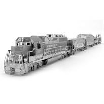 Металлический 3D конструктор Поезд (Freight Train Set Metal Earth) купить в Москве