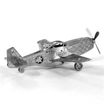 Металлический 3D конструктор самолет Мустанг (Mustang P-51 Metal Earth) купить в Москве
