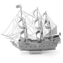 Металлический 3D конструктор корабль Черная жемчужина (Black Pearl Premium Series Metal Earth) купить в Москве