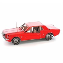 Металлический 3D конструктор Форд Мустанг 1965 красный (Ford Mustang Metal Earth) купить в Москве