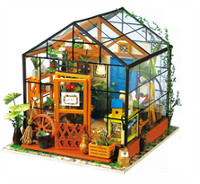 Румбокс интерьерный конструктор с мебелью Оранжерея Кетти (DIY House Kathy's Green House) купить в России с доставкой
