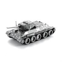 Металлический 3D конструктор Танк (T-34 Tank Metal Earth) купить в Москве