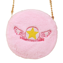 """Плюшевая сумка с эмблемой аниме """"Сакура - собирательница карт"""" (Cardcaptor Sakura) купить в России с доставкой"""