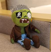 Мягкая игрушка Зомби пират 30 см (Plants vs Zombies) купить с доставкой