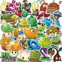 Интерьерные наклейки из игры Зомби против растений (Plants vs Zombies) 24 шт купить в Москве
