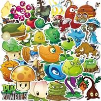 Набор наклеек Зомби против растений (Plants vs Zombies)