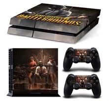Наклейка для PS4 с персонажами из игры PUBG (PlayerUnknown's Battlegrounds) купить в России с доставкой