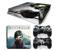 Наклейка для PS4 Slim Эмили из игры Обесчещенный (Dishonored) купить в России с доставкой