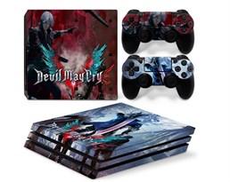 Наклейка для PS4 Pro Данте из игры Плачущий дьявол (Devil May Cry) купить в России с доставкой