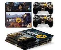Наклейка для PS4 Pro Фоллаут (Fallout) купить в России с доставкой
