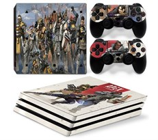 Наклейка для PS4 Pro с персонажами из Апекс (Apex Legends) купить в России с доставкой