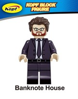 """Фигурка Профессора из сериала """"Бумажный дом"""" совместимая с Lego (La casa de Pape)"""