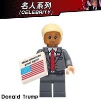 Фигурка совместимая с Lego Дональд Трамп с флагом