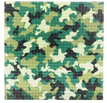 Строительная пластина для лего камуфляжного цвета 25,5 Х 25,5 см купить в России с доставкой