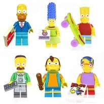 Набор из 6 минифигурок Симпсоны (Simpsons) совместимых с Лего купить
