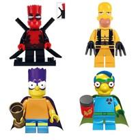 Купить Набор минифигурок совместимых с Лего Симпсоны Супергерои (Simpsons)