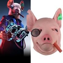 Маска голова свиньи с сигаретой во рту из игры Сторожевые псы (Watch Dogs) купить в России с доставкой
