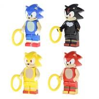 Набор из 4 минифигурок совместимых с Лего Соник (Sonic)