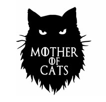 Интерьерная наклейка Матерь кошек (Игра престолов) купить в Москве