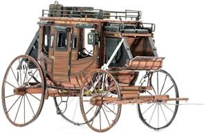Металлический 3D конструктор Карета (Wild West Stagecoach Metal Earth) купить в Москве