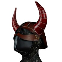 Шлем-Маска рога викинга в стиле стимпанк купить в России с доставкой