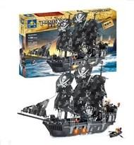 """Конструктор """"Черная жемчужина"""" совместима с лего из фильма Пираты Карибского моря"""