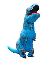 Синий надувной костюм динозавра Тирекса (T-Rex) взрослый купить в России с доставкой