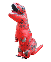 Красный надувной костюм динозавра Тирекса (T-Rex) детский