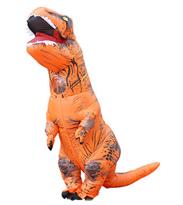 Оранжевый надувной костюм динозавра Тирекса (T-Rex) взрослый купить в России с доставкой