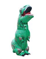 Зеленый надувной костюм динозавра Тирекса (T-Rex) взрослый купить в России с доставкой